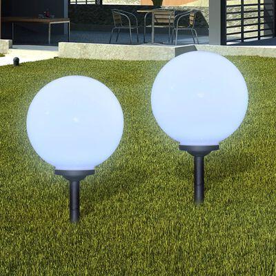 vidaXL 4 db kültéri gyalogjáró LED-lámpa cölöppel 30 cm