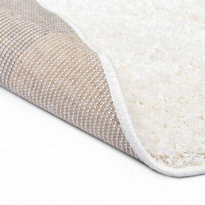 vidaXL krémszínű bozontos szőnyeg 67 cm