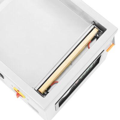 vidaXL professzionális rozsdamentes acél vákuumcsomagoló gép 400 W