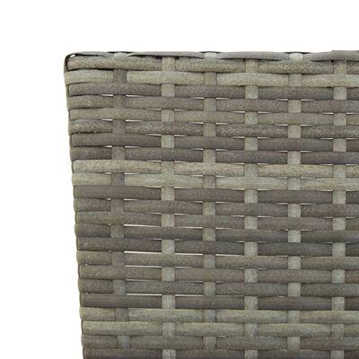 vidaXL szürke polyrattan kerti pad párnákkal 176 cm