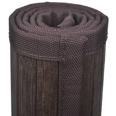 2 db bambusz fürdőszoba szőnyeg 40 x 50 sötétbarna