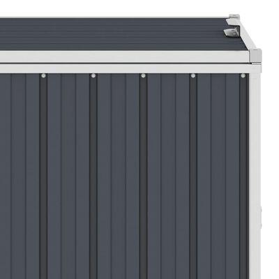vidaXL antracitszürke acél kukatároló 2 db kukához 143 x 81 x 121 cm