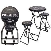 Ambiance összecsukható fekete bárasztal székekkel