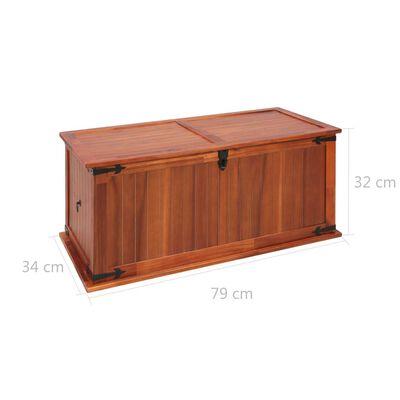 vidaXL tömör akácfa tárolóláda 79 x 34 x 32 cm