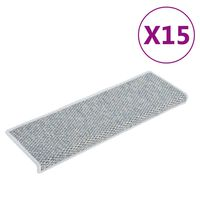 vidaXL 15 db szizál hatású kék öntapadó lépcsőszőnyeg 65 x 25 cm
