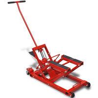 Hidraulikus Motorkerékpár/ATV emelő 680 kg piros