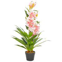 vidaXL rózsaszín, cserepes műliliom 90 cm