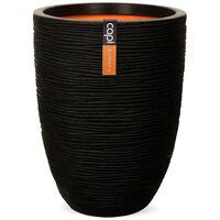 Capi Nature Rib KBLR782 fekete elegáns váza 36 x 47 cm