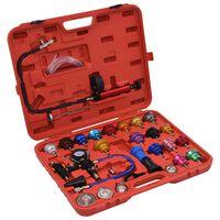 vidaXL 28 darabos hűtőrendszer- és hűtősapka-nyomásmérő