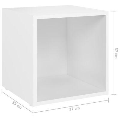 vidaXL 8 részes fehér forgácslap TV-szekrényszett
