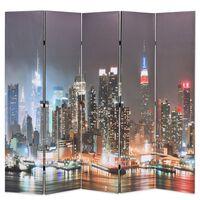 vidaXL éjszakai New York mintás paraván 200 x 170 cm