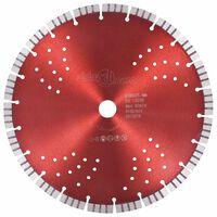 vidaXL gyémánt vágókorong turbó és furatos acéllal 300 mm