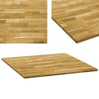 vidaXL négyzet alakú tömör tölgyfa asztallap 23 mm 80 x 80 cm