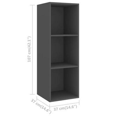 vidaXL 5 részes szürke forgácslap TV-szekrény szett