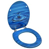 vidaXL kék vízcseppmintás MDF WC-ülőke fedéllel