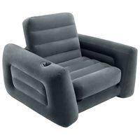 Intex sötétszürke kihúzható fotel 117 x 224 x 66 cm