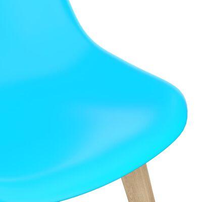 vidaXL 5 részes kék étkezőszett