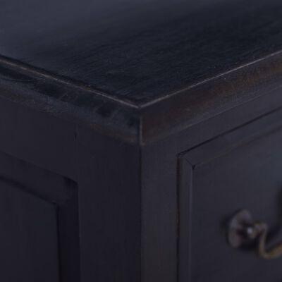vidaXL világos feketekávé színű tömör mahagónifa fiókos szekrény