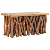vidaXL tömör tík- és újrahasznosított fa dohányzóasztal 100x40x47,5 cm