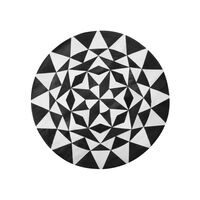 Különleges Geometriai Mintájú Fekete És Fehér Szőnyeg ø140 cm TURGUTLU