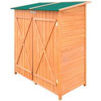 Fa kerti szerszámtároló fészer nagy tárolóhelyiséggel