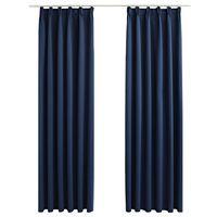 vidaXL 2 db kék sötétítőfüggöny kampókkal 140 x 245 cm