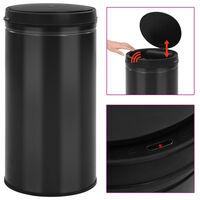 vidaXL fekete automata érzékelős szénacél szemeteskuka 60 L