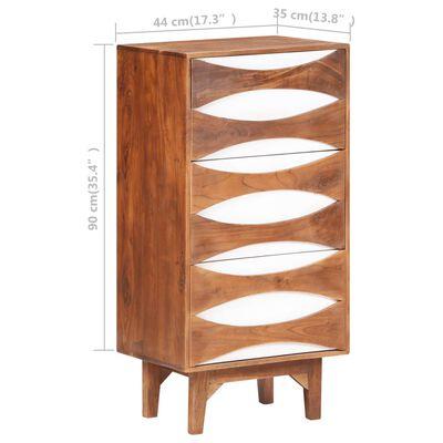 vidaXL tömör akácfa fiókos szekrény 44 x 35 x 90 cm