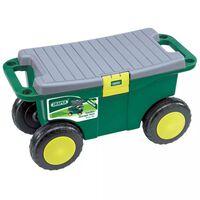 Draper Tools 60852 zöld kerti szerszámoskocsi és ülőke 56x27,2x30,4 cm