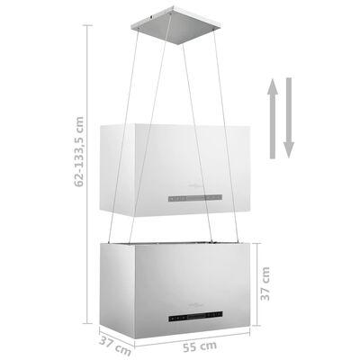 vidaXL rozsdamentes acél LCD érintőképernyős sziget páraelszívó 55 cm, Ezüst