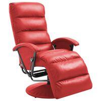 vidaXL piros dönthető műbőr TV-fotel