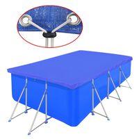 vidaXL négyszögletes PE medencetakaró 90 g/m² 394 x 207 cm