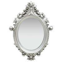 vidaXL ezüstszínű kastély stílusú fali tükör 56 x 76 cm