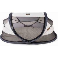 DERYAN Baby Luxe krémszínű felállítható utazóágy szúnyoghálóval