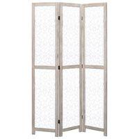 vidaXL fehér 3-paneles tömör faparaván 105 x 165 cm