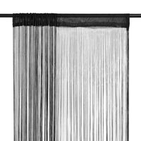 vidaXL 2 db fekete zsinórfüggöny 140 x 250 cm