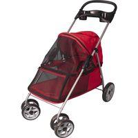 FLAMINGO piros kutyaszállító kocsi 89 x 37 x 87 cm