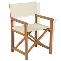 vidaXL összecsukható tömör tíkfa rendezői szék