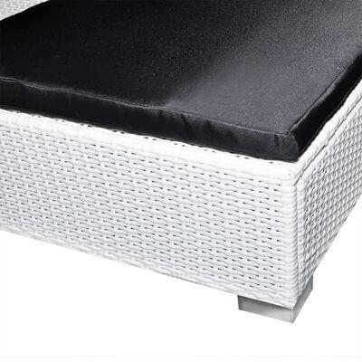 vidaXL 8-részes fehér polyrattan kerti bútorszett párnákkal