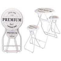 Ambiance összecsukható fehér bárasztal székekkel