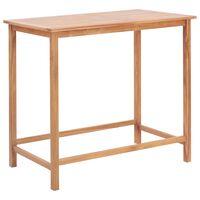 vidaXL tömör tíkfa kerti bárasztal 120 x 65 x 110 cm