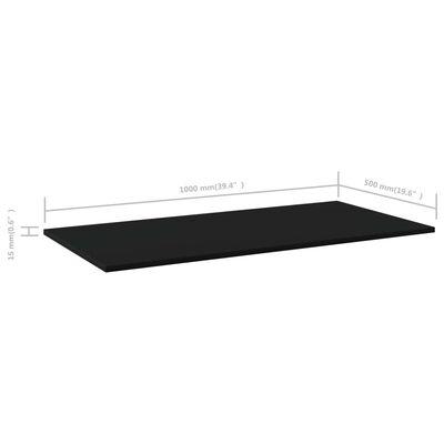 vidaXL 4 db fekete forgácslap könyvespolc 100 x 50 x 1,5 cm