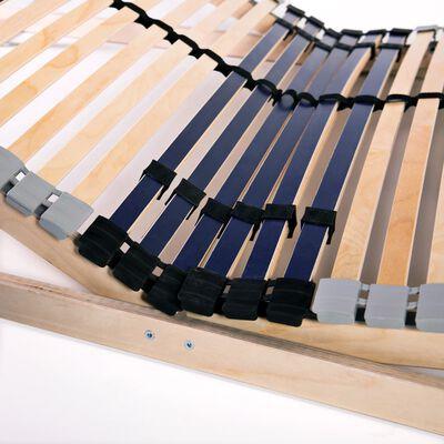 vidaXL 7 zónás, 42 léces ágyrács 120 x 200 cm