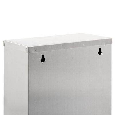 vidaXL ezüstszínű rozsdamentes acél szelektív szemeteskuka 45 L