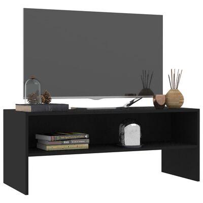 vidaXL fekete forgácslap TV-szekrény 100 x 40 x 40 cm