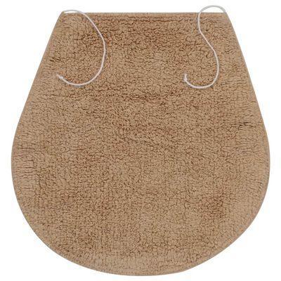 vidaXL 3 darabos bézs szövet fürdőszobaszőnyeg-garnitúra, Drapp
