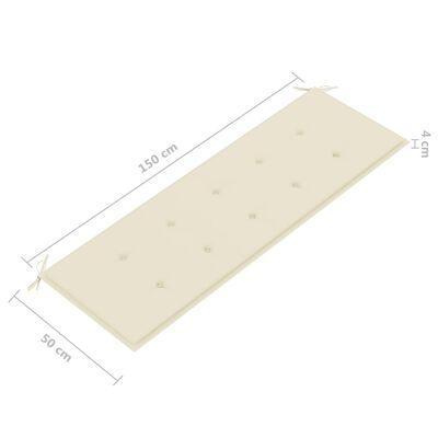 vidaXL tömör tíkfa rakásolható kerti pad párnával 159 cm