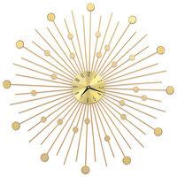 vidaXL aranyszínű fém falióra 70 cm