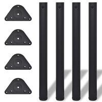 4 db állítható magasságú asztalláb 710 fekete