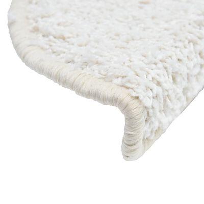 vidaXL 15 darab fehér lépcsőszőnyeg 65 x 25 cm